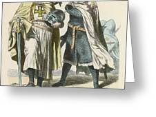 A Grand Master Of The Teutonic  Knights Greeting Card