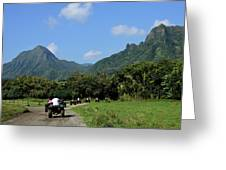 A Group Of Atv Quad Riders Take Greeting Card