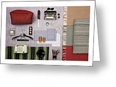 A Group Of Household Objects Greeting Card