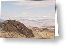 A Hiker Stands On A Peak Greeting Card