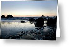 A Landscape Of Rocks On The Coast Greeting Card