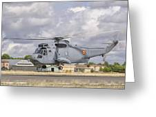A Spanish Navy Sh-3d Helicopter Greeting Card
