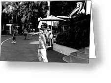 A Street Entertainer In The Hollywood Section Of Universal Studios Greeting Card