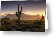 A Superstition Sunrise   Greeting Card