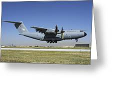 A Turkish Air Force A400m Landing Greeting Card