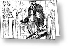 A typical british city gent leaving drawing by mary evans picture a typical british city gent leaving greeting card m4hsunfo