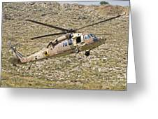 A Uh-60l Yanshuf Helicopter Greeting Card