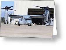 A U.s. Marine Corps Mv-22b Osprey Greeting Card