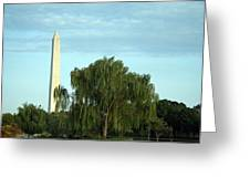 A Weeping Willow Washington Monument Greeting Card