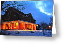 A Winters Eve Greeting Card
