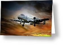 A10 Thunderbolt II Greeting Card