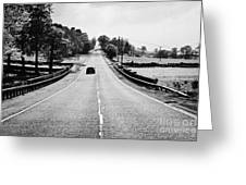 A69 Road On The Border Of Cumbria And Northumberland Uk Greeting Card