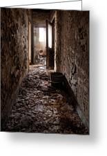 Abandoned Building - Hallway To Ladies Room Greeting Card