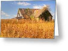 Abandoned Farmhouse In Field 3 Greeting Card