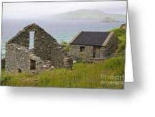 Abandoned Stone House, Slea Head Greeting Card