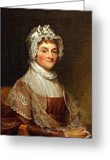 Abigail Smith Adams By Gilbert Stuart Greeting Card