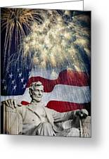 Abraham Lincoln Fireworks Greeting Card