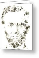 Abraham Lincoln Paint Drops Greeting Card