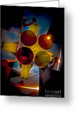 Abstract 3d Shapes  Greeting Card