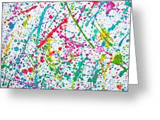 Abstract Color Splash Greeting Card