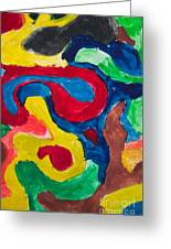 Abstract Colorful Painting Greeting Card