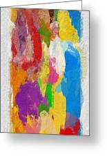 Abstract Colors Greeting Card