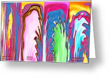 Abstract Emotional Stages  Confusion Disbelief Grief Anger Walkaway Greeting Card
