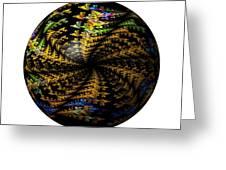 Abstract Globe Greeting Card