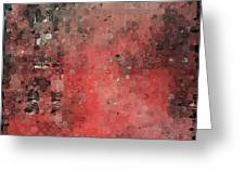 Abstract Red Digital Print Greeting Card