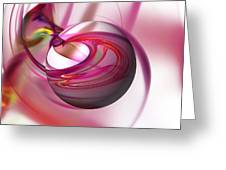 Abstract Red Globe Greeting Card