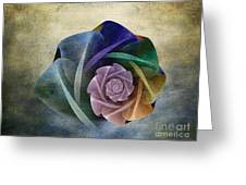 Abstract Rose Greeting Card
