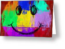 Abstract Smiley Face Greeting Card