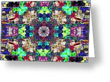 Abstract Symmetry Of Colors Greeting Card