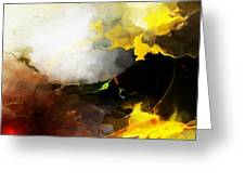 Abstract Under Glass Greeting Card