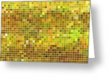 Abstract Vector Square Pixel Mosaic Greeting Card