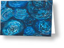 Abstract Watercolour Painting Greeting Card