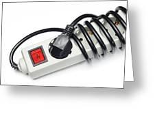Ac Power Plug And Sockets Greeting Card