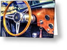 Ac Shelby Cobra Oil Painting Greeting Card