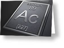Actinium Chemical Element Greeting Card