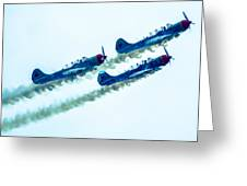 Action In The Sky During An Airshow Greeting Card