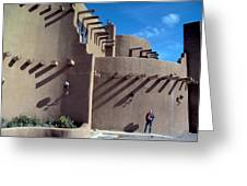 Adobe Architecture In Santa Fe Greeting Card