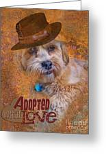 Adopted With Love Greeting Card