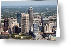 Aerial Of Downtown Indianapolis Indiana Greeting Card