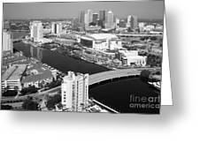 Aerial Of Downtown Tampa And Harbour Island Greeting Card