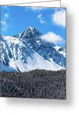 Aerial Of Mount Sneffels With Snow Greeting Card
