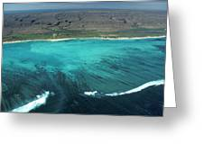Aerial Of Ningaloo Reef And Cape Range Greeting Card