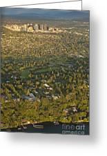 Aerial View Of Bellevue Skyline Greeting Card