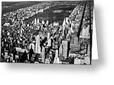 Aerial View Of Central Park Greeting Card