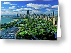 Aerial View Of Chicago, Illinois Greeting Card