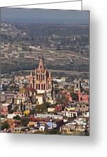 Aerial View Of San Miguel De Allende Greeting Card